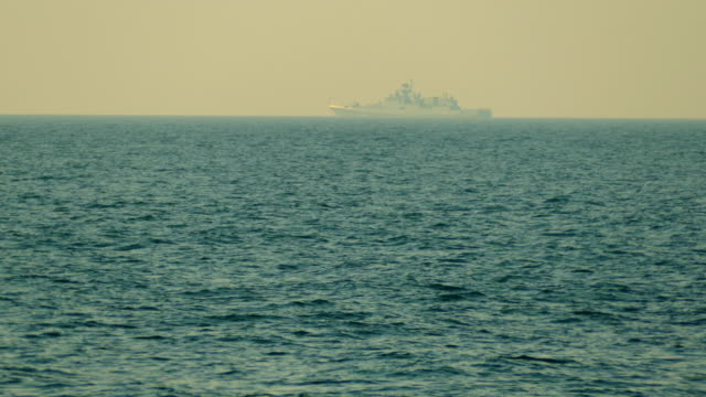 warship at sea anchored - warship stock videos & royalty-free footage