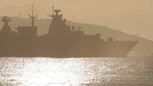 warship on the sea - military base stock videos & royalty-free footage