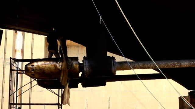 warship repaired in dock - metal worker stock videos & royalty-free footage