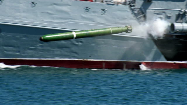 warship torpedo attack - weaponry stock videos & royalty-free footage