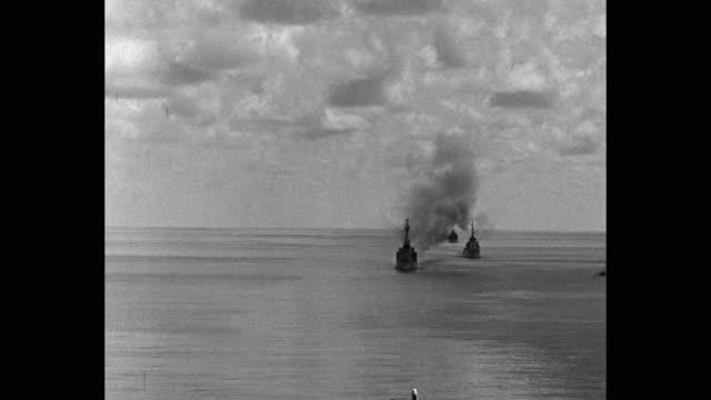 warships firing in sea - warship stock videos & royalty-free footage