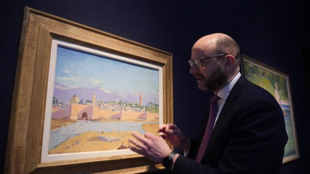 GBR: Wartime painting by Sir Winston Churchill to be sold at auction in London
