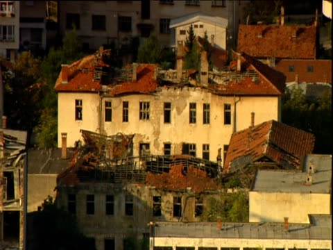 war-torn buildings mostar - bosnia and hercegovina stock videos & royalty-free footage