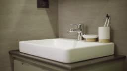 Wash basin in the bathroom
