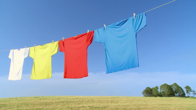 hd: washed with nature - washing line stock videos & royalty-free footage