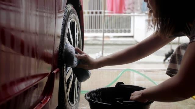 Washing car at home