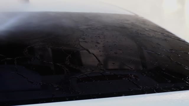 washing car, cleaning car. - polishing stock videos & royalty-free footage