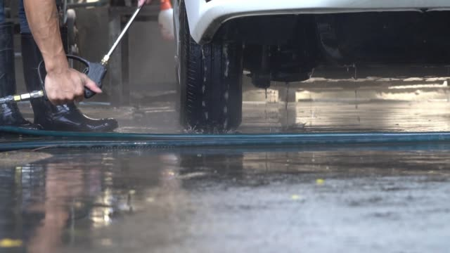 washing car, cleaning car. - washing stock videos & royalty-free footage