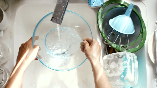 washing dishes - washing up stock videos & royalty-free footage