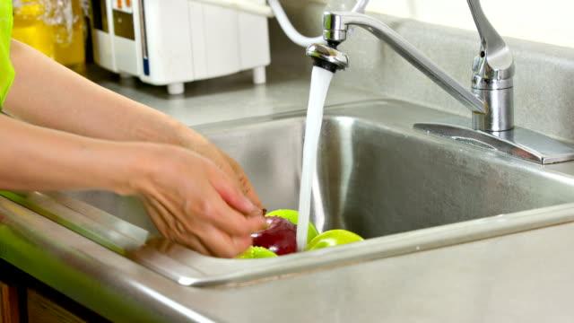 Waschen Obst