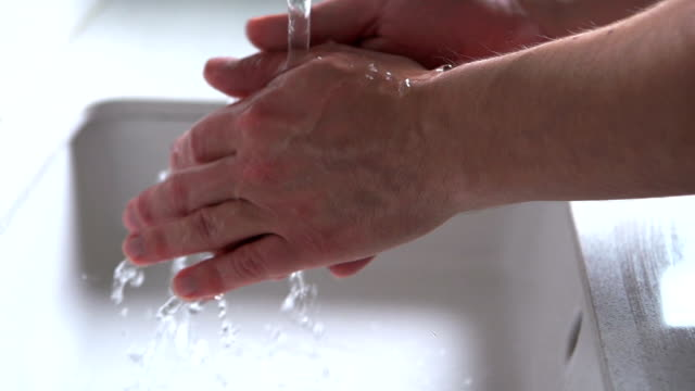 washing hands     he - washing hands stock videos & royalty-free footage