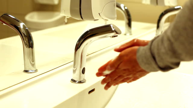 washing hands - sink stock videos & royalty-free footage