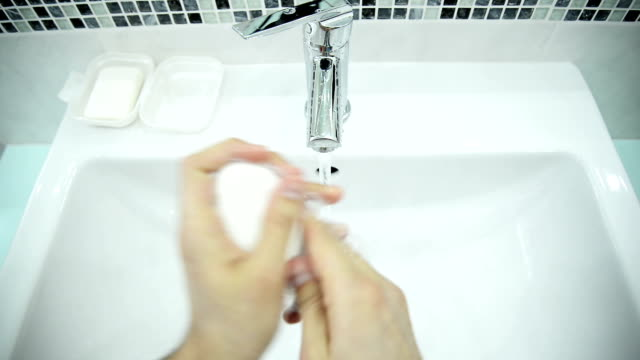 washing hands - soap sud stock videos & royalty-free footage