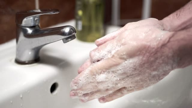 washing hands with soap - stock footage - soap sud stock videos & royalty-free footage