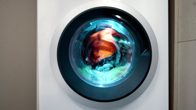 washing machine in use 4k. - laundry stock videos & royalty-free footage