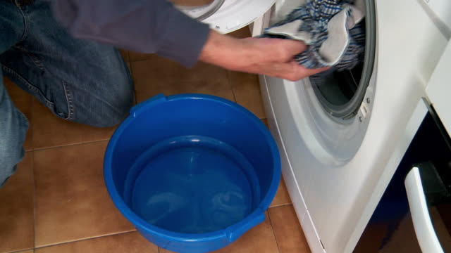 washing machine & laundry - washtub stock videos and b-roll footage