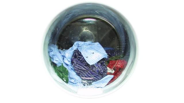 washing machine - porthole, isolated - washing machine stock videos and b-roll footage