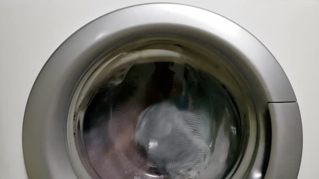 washing machine turning - laundry powder stock videos and b-roll footage