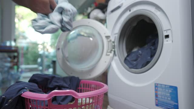 washing machine turning - textile stock videos & royalty-free footage
