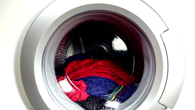 washing machine - launderette stock videos and b-roll footage