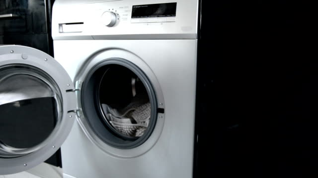 washing machine workflow - start button stock videos & royalty-free footage