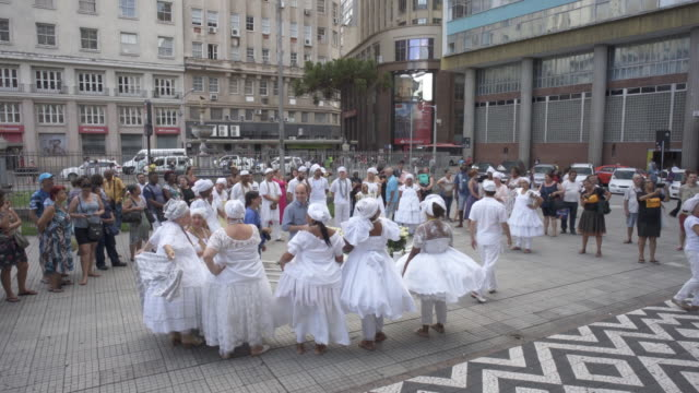 washing of the steps of porto alegre city hall - alegre stock videos & royalty-free footage