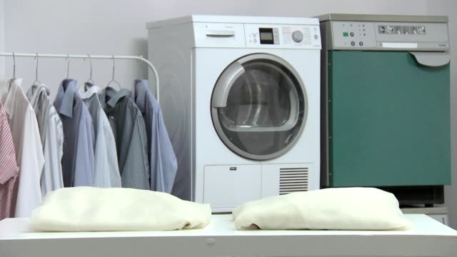washing room - tumble dryer stock videos & royalty-free footage