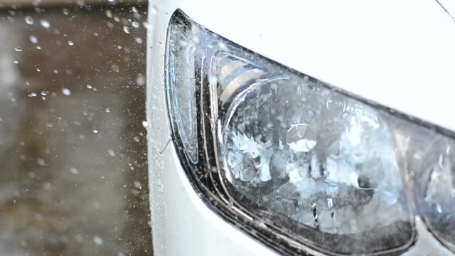 washing the car - headlight stock videos and b-roll footage