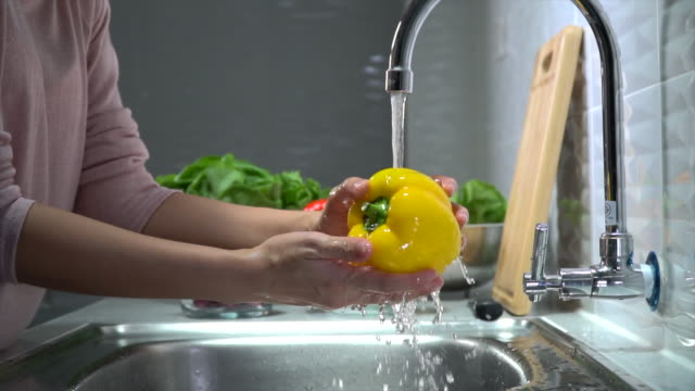 washing vegetables for antivirus - fruit stock videos & royalty-free footage
