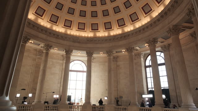 washington capitol hill interior - federal building stock videos & royalty-free footage
