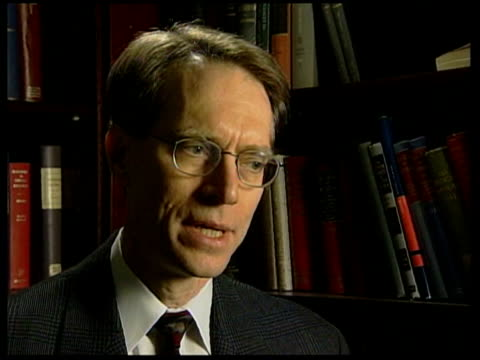 thielmann interview sot calls bush un address disingenuous and deceptive / i have to conclude that he did that because he was building a case for war - weapons of mass destruction stock videos & royalty-free footage