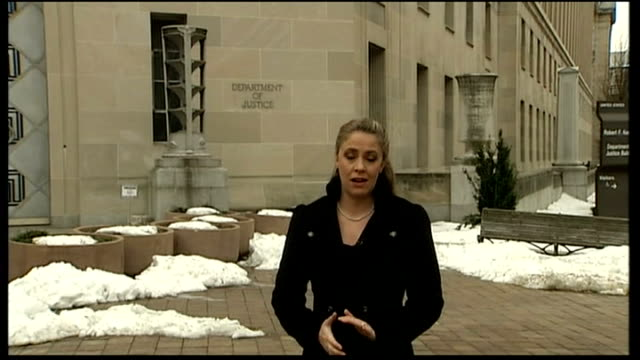 close up of 'department of justice' sign reporter to camera - department of justice stock videos & royalty-free footage