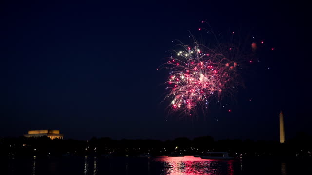 washington dc fireworks - fourth of july stock videos and b-roll footage