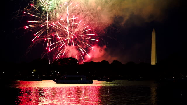 washington dc fireworks - fourth of july stock videos & royalty-free footage