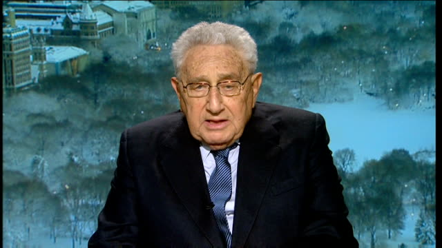 henry kissinger live 2 way interview sot - i believe that the army has obviously decided that he should go, and so it's only a question of modalities... - us state border stock videos & royalty-free footage