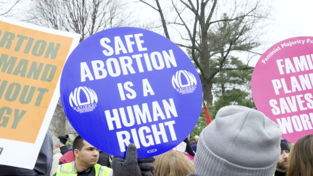 washington dc, – january 24, 2020: demonstrators stand in front of us supreme court. 47th annual march for life in washington d.c. the march for life... - abortion stock videos & royalty-free footage