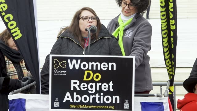 washington dc, – january 24, 2020: women and men abortion survivors stand before the steps of the us supreme court during the annual 47th march for... - justice concept stock videos & royalty-free footage