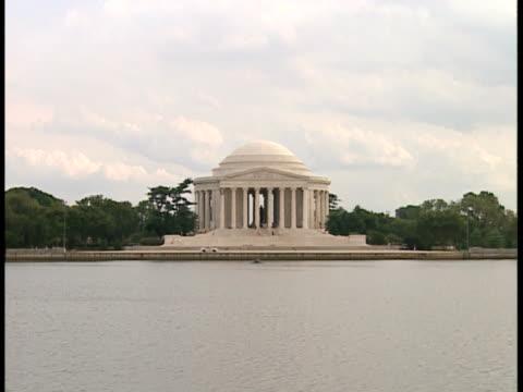 vidéos et rushes de ms, zi, usa, washington, d.c., jefferson memorial - style néoclassique
