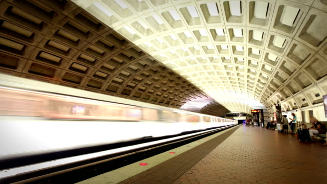 washington dc metro train station - underground station stock videos & royalty-free footage