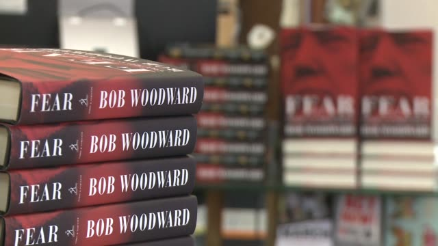 washington dc residents are buying copies of fear: trump in the white house by bob woodward on the day the book is released - fear stock videos & royalty-free footage