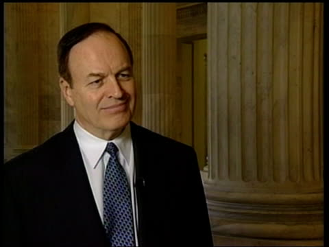 washington dc senator richard shelby interviewed sot question being asked by millions of americans i don't disagree ext i/c clean feed tape =... - shelby stock videos & royalty-free footage
