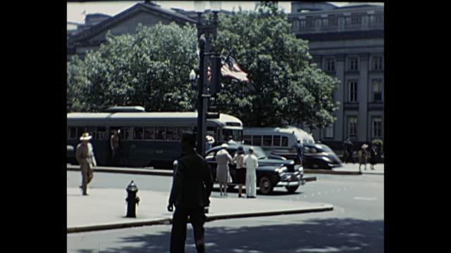 vídeos y material grabado en eventos de stock de 1940 - washington dc streetcars - lozano
