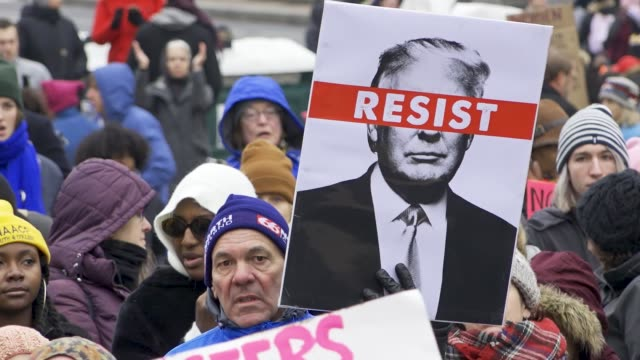 washington dc united states – january 19 2019 3rd annual women's march held in washington dc thousands rallied at freedom plaza and marched down... - pennsylvania avenue stock videos & royalty-free footage