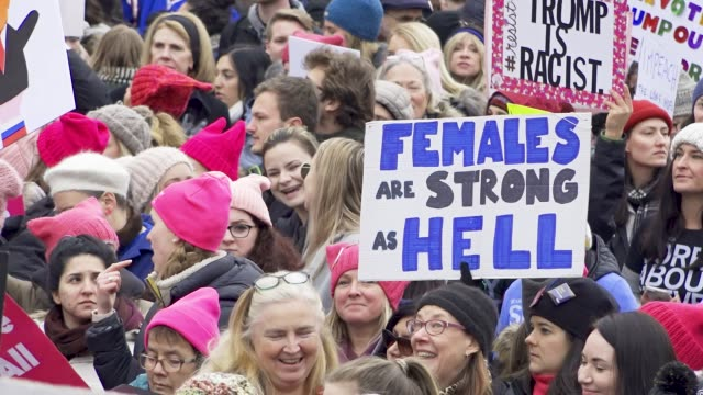 Washington DC UNITED STATES – JANUARY 19 2019 3rd Annual Women's March held in Washington DC Thousands rallied at Freedom Plaza and marched down...
