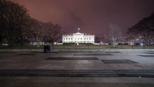 washington dc white house building timelapse - white house washington dc stock videos & royalty-free footage