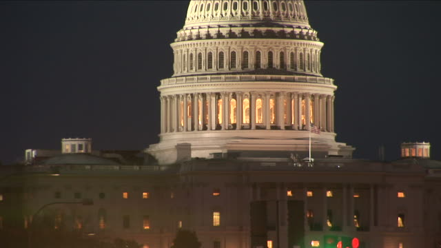 washington dccapitol building at night in washington dc united states - unknown gender stock videos & royalty-free footage