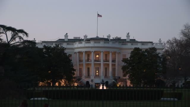 washington dcclose view of white house at magic hour in washington dc united states - white house washington dc stock videos & royalty-free footage