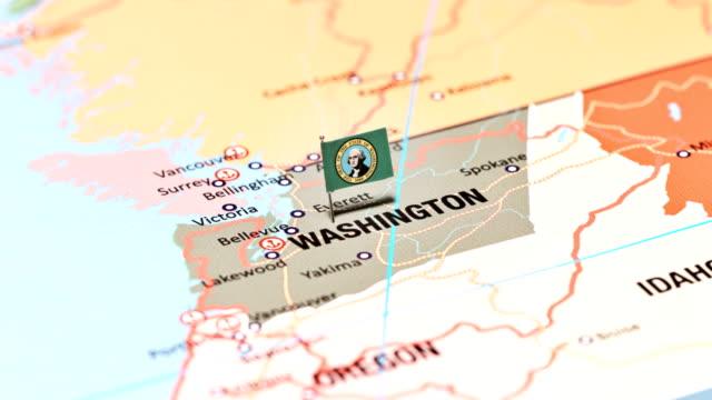 washington from usa states - stato di washington video stock e b–roll