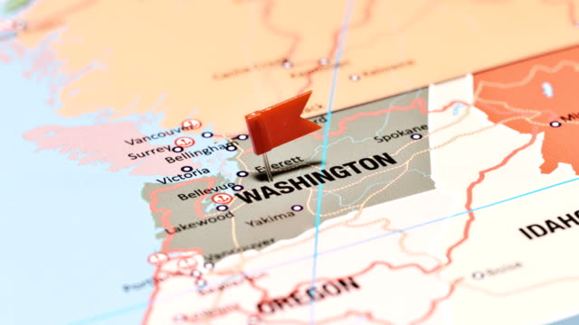washington from usa states - stato di washington video stock e b–roll