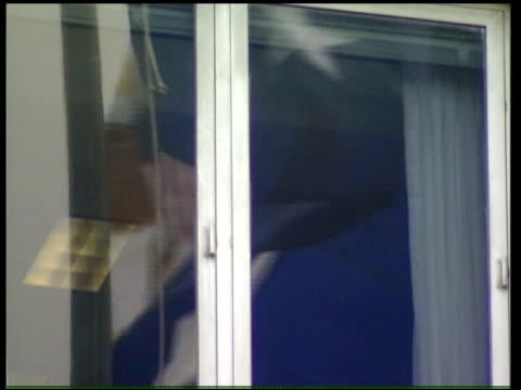 washington robert perito interview sot state department flag reflected in window i/c pentagon side four marines next department of defense building... - department of defense stock videos and b-roll footage